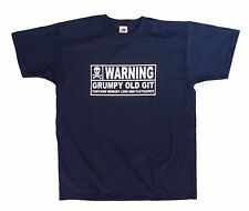Warning Grumpy Old Git 50th 60th 70th Birthday t shirt, funny present gift idea