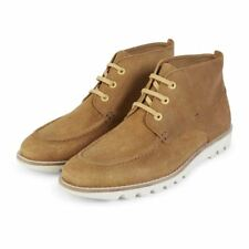 KICKERS MEN'S KYMBO MOCC CHUKKA BOOTS LIGHT BROWN RUBBER TREAD SS17 SUEDE SHOES