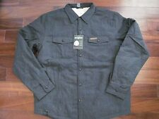 NWT Mens FIELD & STREAM Anchor Gray Sherpa Fleece Lined Shirt Jacket Size L $100
