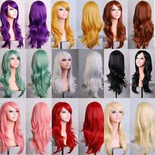 70CM Anime High Temperature Long Curly Synthetic Fiber Hair Wig Cosplay 13 Color