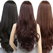 WOMEN LOLITA CURLY WAVY LONG FULL WIG HEAT RESISTANT COSPLAY PARTY HAIR COMFY