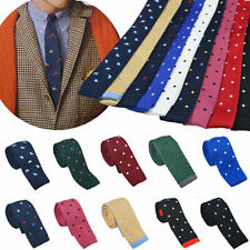 Mens Necktie Knitted Tie Ties New Charm Skinny Narrow Slim Hot Colourful Knit E