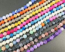 Wholesale Rainbow Frosted Agate Beads Matte Beads Gemstone beads Round 8mm 10mm