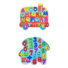 Children Coloful Cartoon Wooden Puzzle Jigsaw Learning ABC Alphabet/Numbers