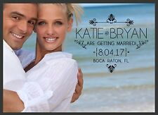 Photo Save The Date Wedding Reminder Cards & Envelopes Personalized Just For You
