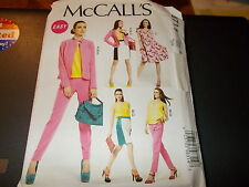McCalls Pattern M6711 Ms Lined Jackets~Top/Dress~Lined Skirt & Tapered Pants EZ