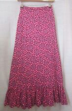 Vintage 1970's Beautiful Handmade Ditsy Floral Frilled Boho Hippy Maxi Skirt 6 8