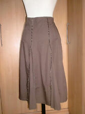 DOROTHY PERKINS brown cotton flared summer skirt size 14