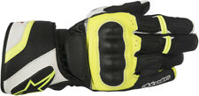 Alpinestars Mens Black/White/Yellow Fluo SP Z Drystar Motorcycle Riding Gloves