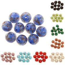 10 Pcs 12mm Lampwork Round Glass Beads for Jewelry Making Craft