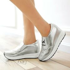 New Womens Sneakers Athletic Tennis Shiny Casual Runing Sport Shoes US Size
