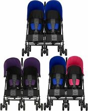 Obaby APOLLO TWIN STROLLER Double Buggy/Pushchair Baby/Toddler Travel 0m+ BN