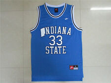 NEW NCAA Indiana State University Larry Bird No.33 Blue Swingman Men's Jersey