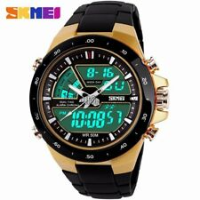 Waterproof Digital Analog Chronograph Alarm Date Military Mens Sport Wrist Watch