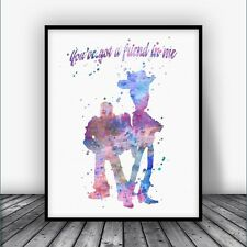 Toy Story Woody and Buzz Quote Art Print Disney Nursery Decor Kids Decorations