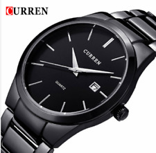 Fashion Men's Date Stainless Steel Military Army Sport Analog Quartz Wrist Watch