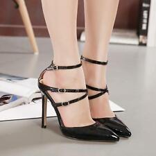 New Women's Strappy Stiletto Pointed Toe Buckle Sandal High Heel Sexy  Shoes Sz