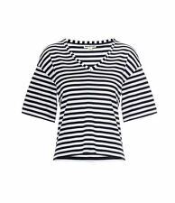 ex Whistles Top - Whistles Holly Breton V Neck Nautical Stripe Top