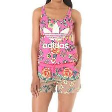adidas Originals Farm Womens Pink Flower Jumpsuit All In One UK Size 8 10 12 14