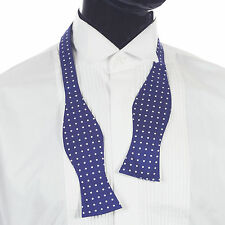 Navy with White Polka Dot Silk Self Tie Bow Tie #SB5032/2
