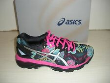 ASICS WOMENS GEL-KAYANO 23 RUNNING SNEAKERS-SHOES-T6A5N -9093- BLACK/SILVER/PINK