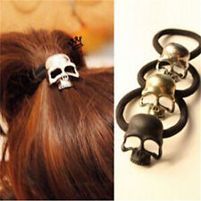 New Punk Skull Hair Tie Cuff Wrap Ponytail Holder Hair Band Rope Accessories MDA