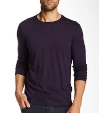 John Varvatos Star USA Men's Long Sleeve Crew Tee Royal Purple $118 msrp NWT