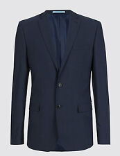 EX M&S COLLECTION PERFORMANCE WOOL BLEND SINGLE BREASTED JACKET BLAZER TAILORED
