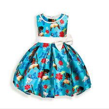 Moana kids Girls Summer sleeveless Dress Wedding Birthday Princess Pageant Party