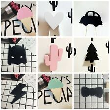 Cute Rabbit Bow Hanger Wooden Clothes Hook For Kids Room Hook Wall Decorate Hot