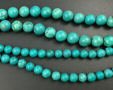 Natural Green Chinese Turquoise Gemstone Beads Round Turquoise Beads 8mm 10mm