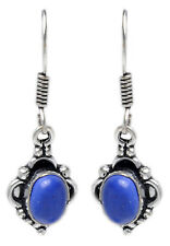 Lapis Lazuli Gemstone Studded Earring In .925 Sterling Silver Overlay Metal