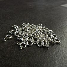 300pcs,925 Sterling silver,5mm,5.5mm Spring Ring Clasp With Open Jump Ring,Italy