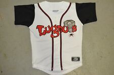 YOUTH Lansing Lugnuts WHITE Black Sleeve Throwback Minor League Baseball Jersey