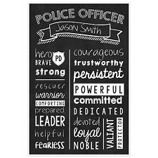 Police Officer Wall Art – Police Officer Graduate Gift -Police Officer Person...