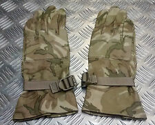 Genuine British Military MTP Multi Camo Leather Combat Gloves - All Sizes - USED