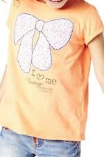 GIRLS ORANGE T-SHIRT WITH BOW DETAIL FROM MARKS AND SPENCER AGE 2 TO 6 BNWT