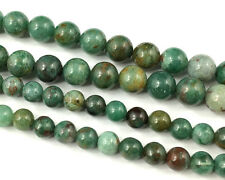 Natural Green Bloodstone Jade Gemstone Beads Round Loose Stone Beads 6mm 8mm