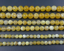 Natural Yellow Fire Agate Gemstone Beads Round Faceted Beads Supply 6mm 8mm 10mm
