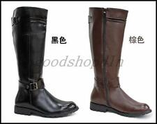 Mens Military Combat Equestrian Shoes Motorcycle Knee High Riding Knight Boot US
