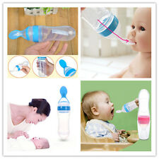 Silicone Feeding With Spoon Feeder Food Rice Cereal Bottle Baby Feeding Tool
