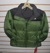 THE NORTH FACE BOYS NUPTSE  DOWN JACKET- #A3NW- CONIFER GREEN- SMALL -NEW