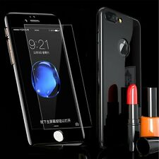 Ultra Slim 360 Full Body Mirror Case Cover Tempered Glass For iPhone 6S 7 Plus
