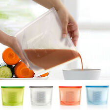 1PC Silicone Reusable Food Soup Self Seal Fresh Bag Cooking Storage Container