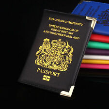 Durable New UK & European Passport Holder PU Leather Protector Cover Wallet