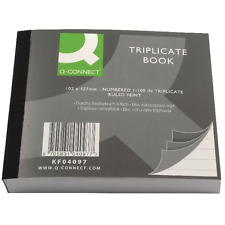 """Triplicate Books - Feint Ruled Lined Carbon Copy  Numbered 1-100 4""""x5"""" 102x127"""