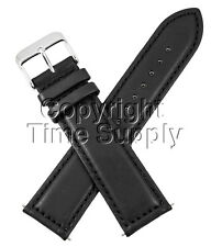 18 mm BLACK CALF LEATHER PADDED WATCH BAND / STRAP NEW