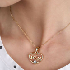 """Charm """"Mum"""" Jewelry Chain Necklace Love Heart Pendant Mothers Day Birthday Gift"""
