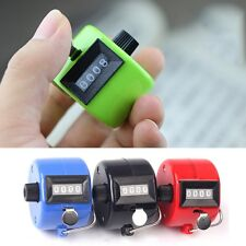 4 Digit Hand Held Tally Counter Manual Palm Clicker Number Counting Golf