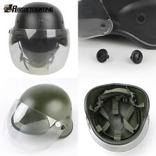 Army M88 Helmet USMC Shooting Classic Protective PASGT Helmet with Clear Visor